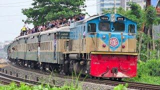 Fully overloaded Dhaka to Lalmonirhat Eid Special Train of Bangladesh Railway