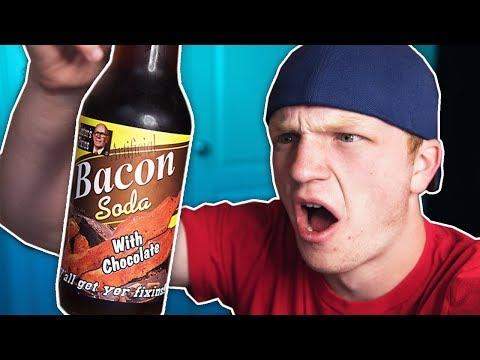 DRINKING SODA THAT TASTE LIKE BACON (VOMIT WARNING)