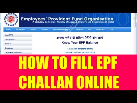 How To Fill EPF Challan Online