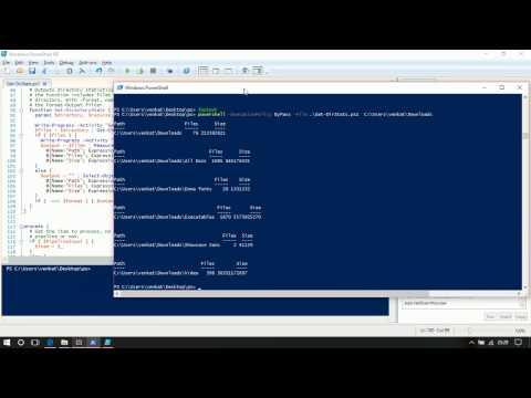 Get folder size PowerShell script
