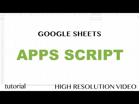 App Script Editor Tutorial - Google Sheets - Excel VBA Equivalent - Read & Write to Ranges & Cells