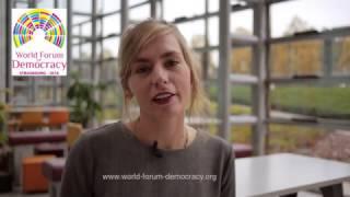 Nimm teil am Weltforum für Demokratie 2016, 7.-9. November