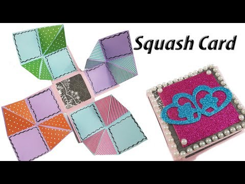 DIY Squash Card Tutorial | How to Make Squash Card for Scrapbook | JK Arts 1373
