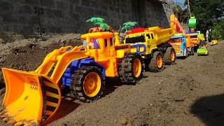 Truck Toys For Children :  Dump Truck, Excavator Crane, Power Shovel Toys