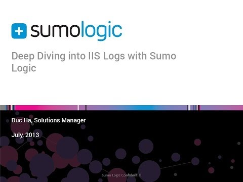Make Your IIS Logs Work for You with Sumo Logic - Webinar