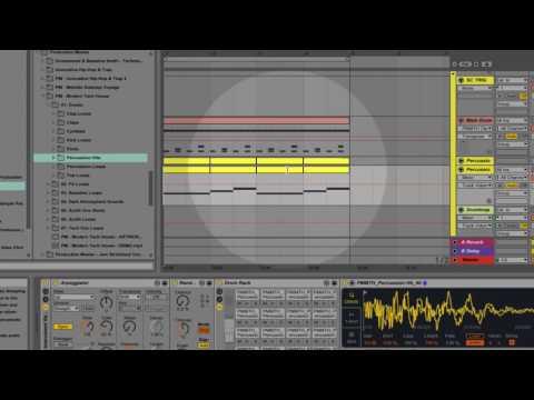 Modern Tech House - Slick Ableton Percussion Tutorial!