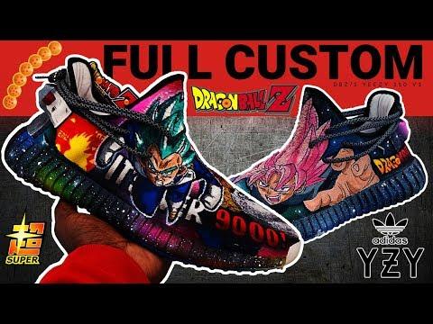Full Custom   Dragon Ball Z SUPER YEEZY V2 by Sierato
