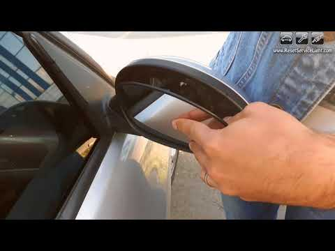 Remove and install wing glass mirror BMW 3 series E90 2004 2009