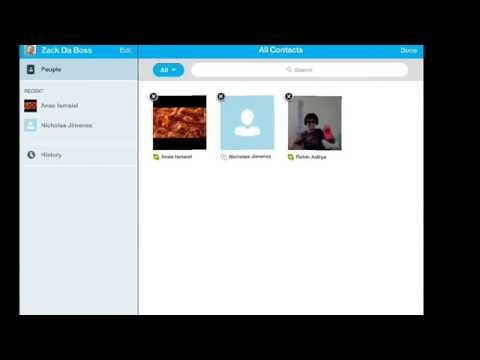 How to remove an contact on Skype (IPad Verson)