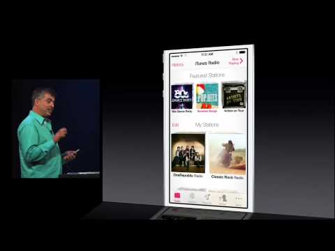 WWDC 2013 iOS 7 iTunes Radio Demo