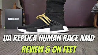Best Replica Boost NMD Human Race Black at yeezys.cc {Review & On Feet}