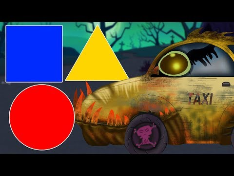 Scary Taxi | Learn Shapes | Video for Kids & Toddlers | Street Vehicle