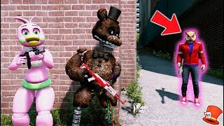 CAN IGNITED FREDDY & FLOWER CHICA HIDE FROM EVIL VANOSS? (GTA 5 Mods For Kids FNAF RedHatter)