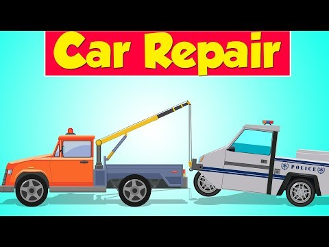 Tow Truck Garage | Police Parking Car | Garage Game for Toddlers