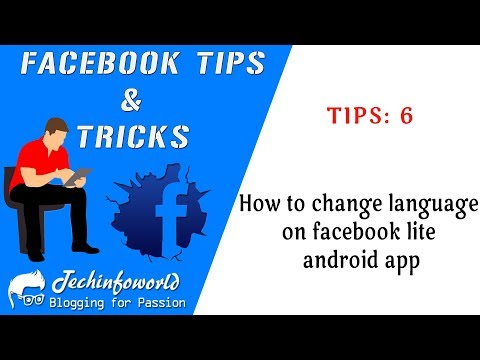 How to change language on facebook lite android app