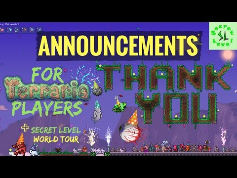 Terraria | AWESOME Announcements For PLAYERS! | Plus SL World Tour | 1.3.5