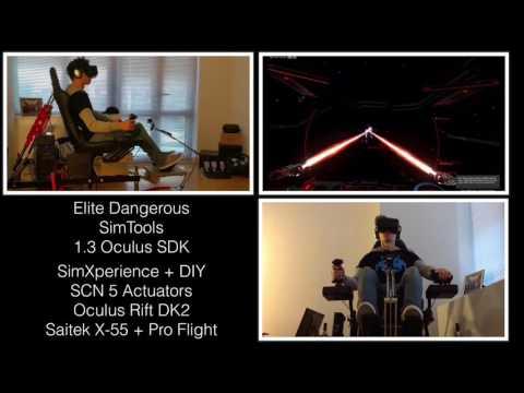 Elite Dangerous 2DOF Simulator SimXperience DIY Full Motion Cockpit