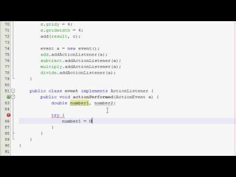 Java GUI Tutorial 14 - Simple calculator (Part 2 of 4)