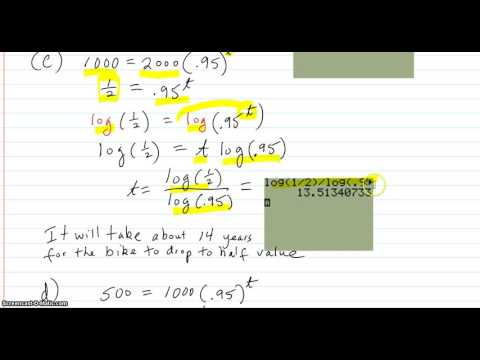 More applications with exponential equations solved using logs