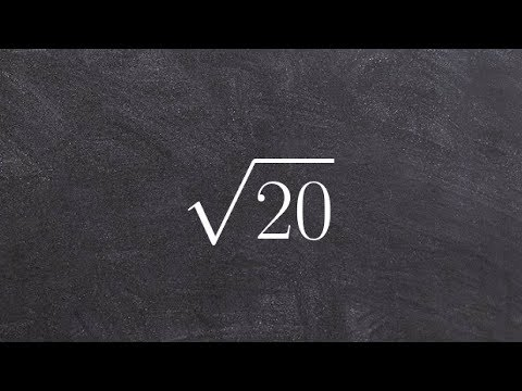 Algebra 2 - Simplifying square roots to prepare for imaginary numbers, root(9), root(20)