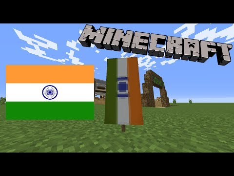 How to make The Indian flag in Minecraft!