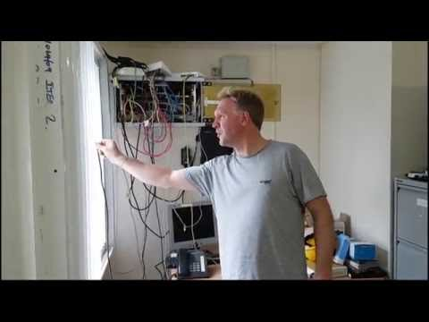 Turning bad  signal into great signal. Installing a mobile phone signal booster in a house.
