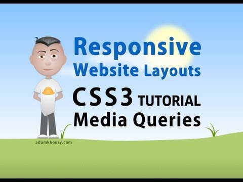 CSS3 Tutorial - Responsive Website Layout Media Queries CSS Stylesheets
