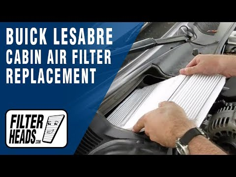 How to Replace Cabin Air Filter Buick LeSabre