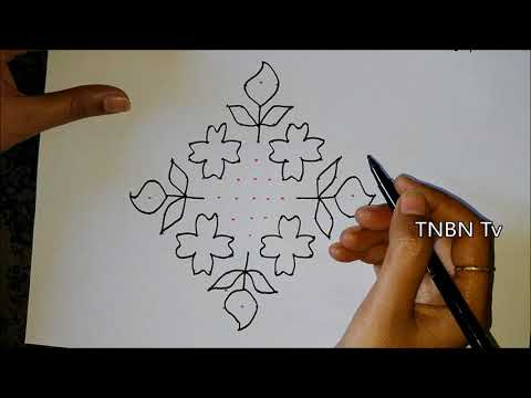 ugadi special muggulu | ugadi pulli kolam | ugadi special rangoli designs with dots | TNBN TV Live