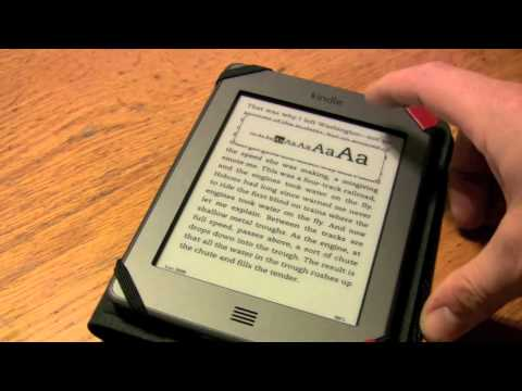 Kindle Touch Review - How to adjust text size