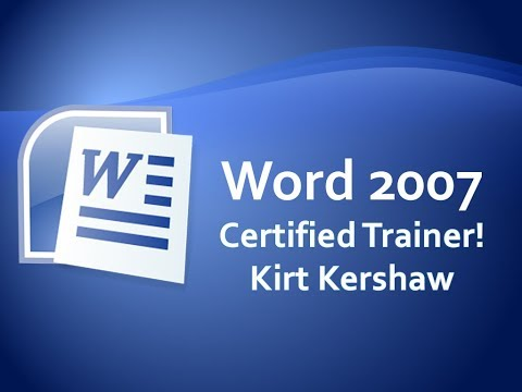 Word 2007: Character Spacing