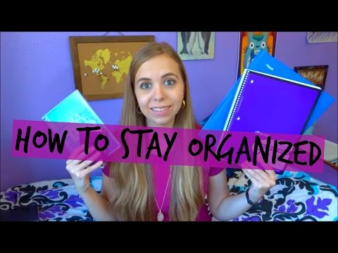 How to Stay Organized in College