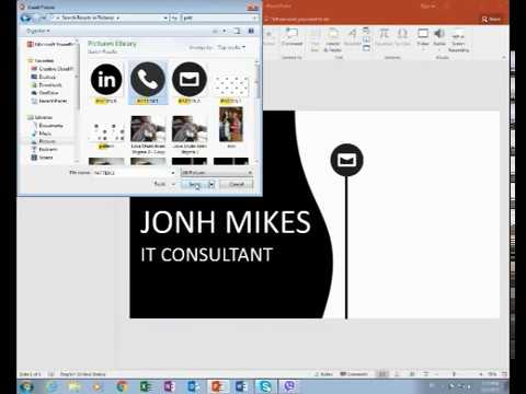 How to make a business card step by step in powerpoint 2016