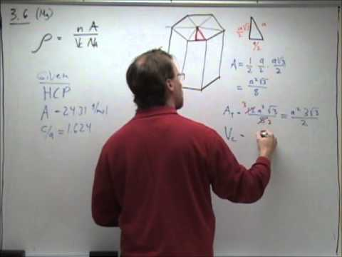 Calculating Density of a Hexagonal Close-Packed Cell of Magnesium