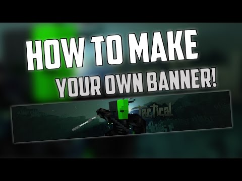 [Tutorial] - How To Make Minecraft Youtube Banners w/ Photoshop