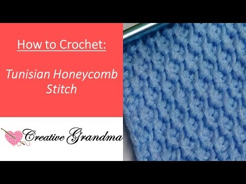 HOW TO CROCHET THE TUNISIAN HONEYCOMB STITCH