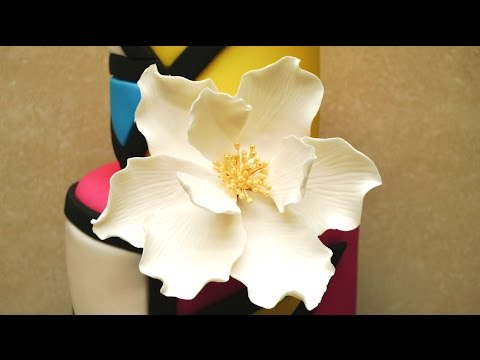 How To Make a Gum Paste Flower on Wires by CakesStepbyStep