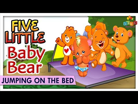 Five Little Baby Bear Jumping On The Bed - Learn Nursery Rhyme & Songs For Children - Kids Carnival