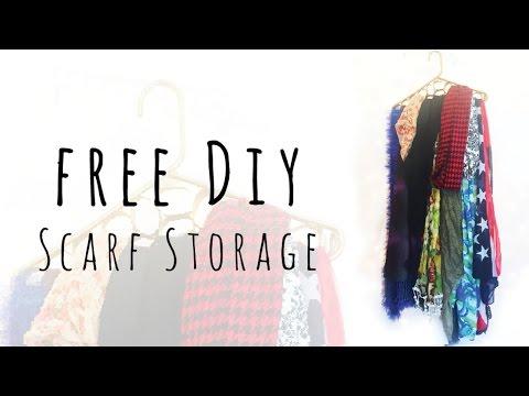 No Cost Scarf Storage - $0 Hanging Organizer