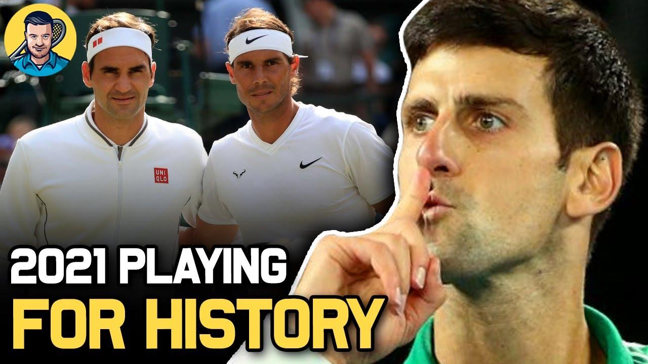 Djokovic 2021 GOALS to Pass Federer & Nadal   Tennis News