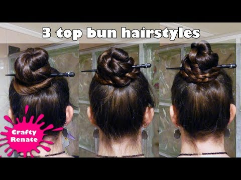 Easy hairstyles for long hair: 3 top bun hairstyles