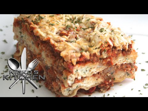 3 CHEESE LASAGNA - VIDEO RECIPE
