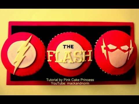 How-to make The Flash Cupcakes - collaboration with CakesByChoppA