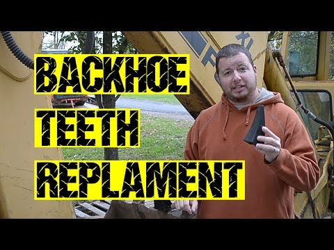 Easy Backhoe Teeth Replacement
