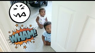 THE TWINS LOCK US OUT OF THEIR NURSERY ROOM! (LITERALLY! LOL!) 😂😂😂😂
