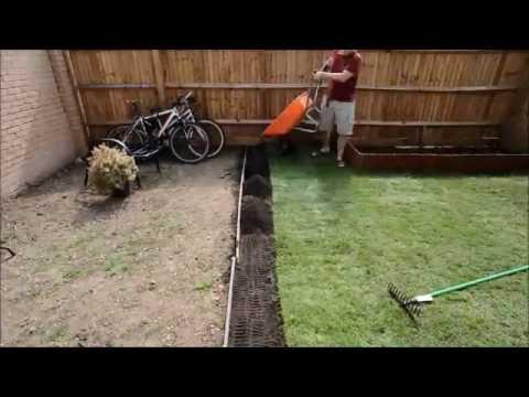 Laying a lawn/turf time lapse video Nikon D3s