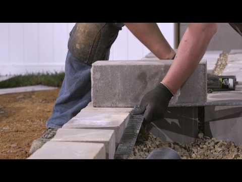 How to Install Landings Step Units Within a Retaining Wall
