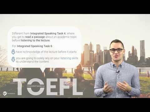 Master TOEFL Integrated Speaking Task 6