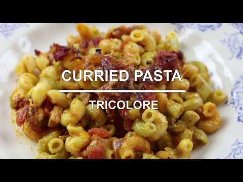 Curried Pasta Tricolore