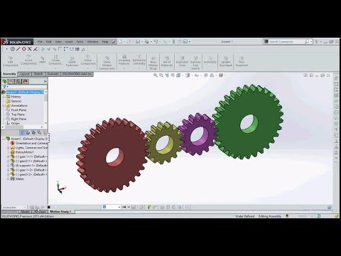 Solidworks Simple gear train design complete tutorial.